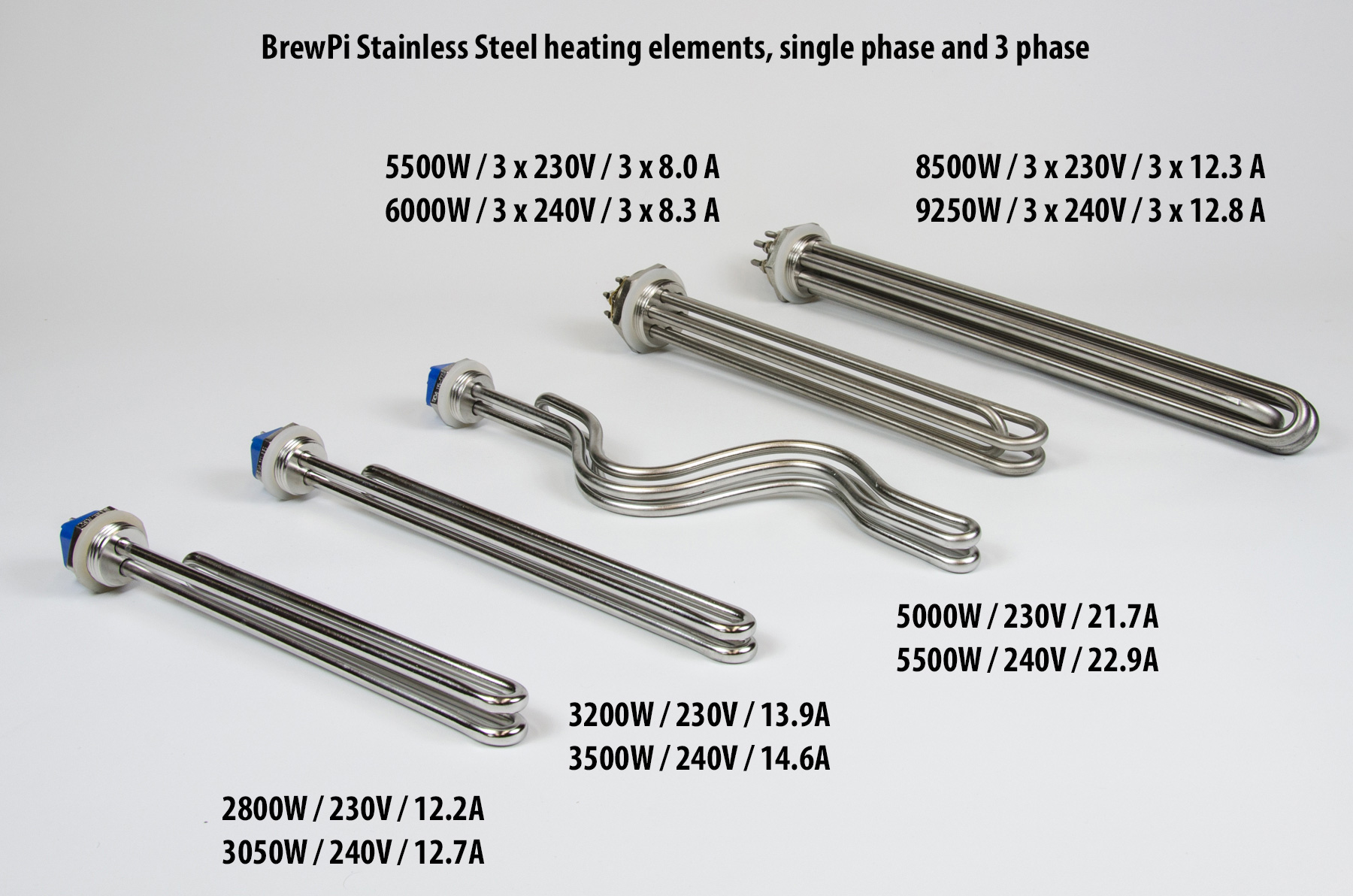 stainless steel heating elements for brewing
