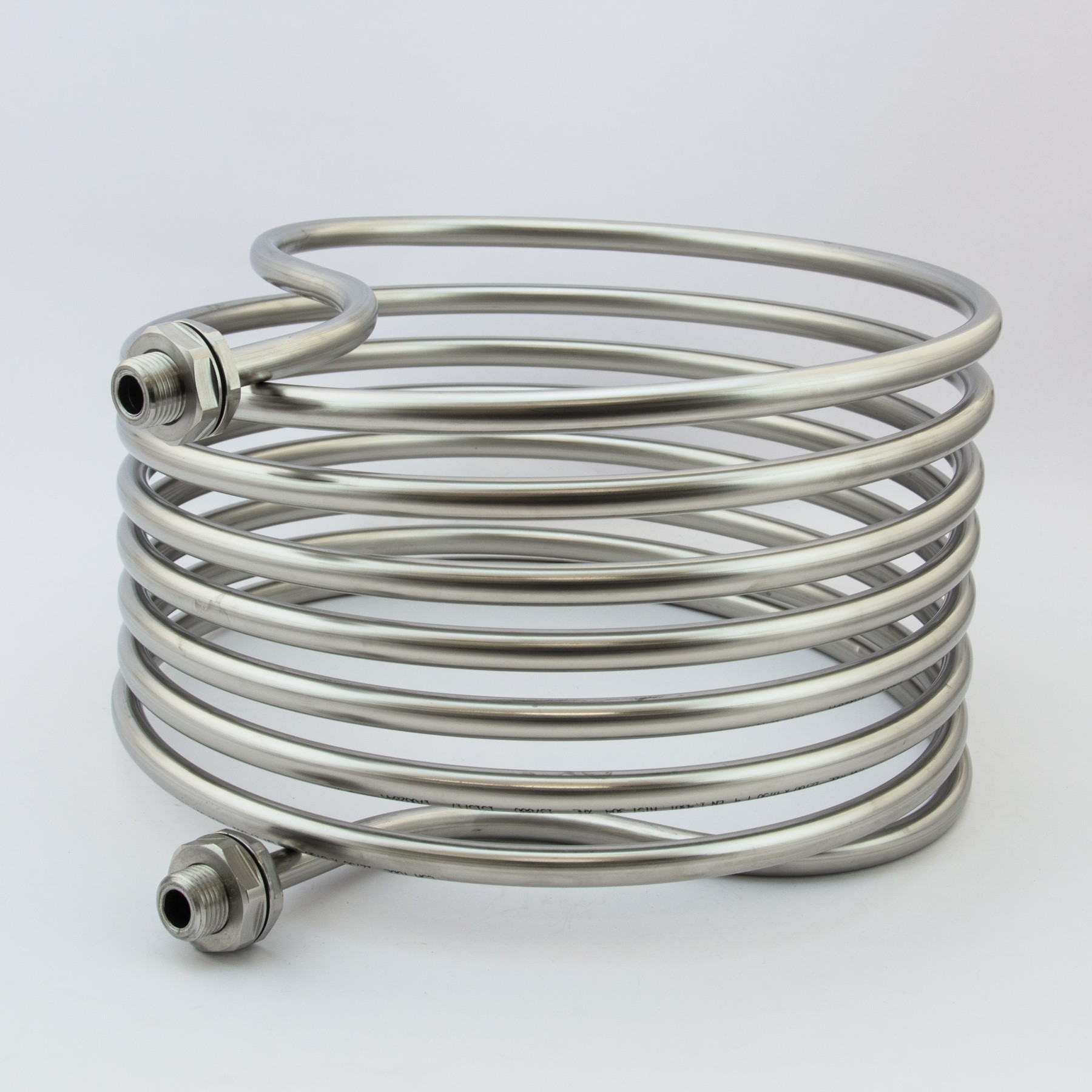 Stainless Steel HERMS Coil with BSP Fittings - 30 cm - 7.5m