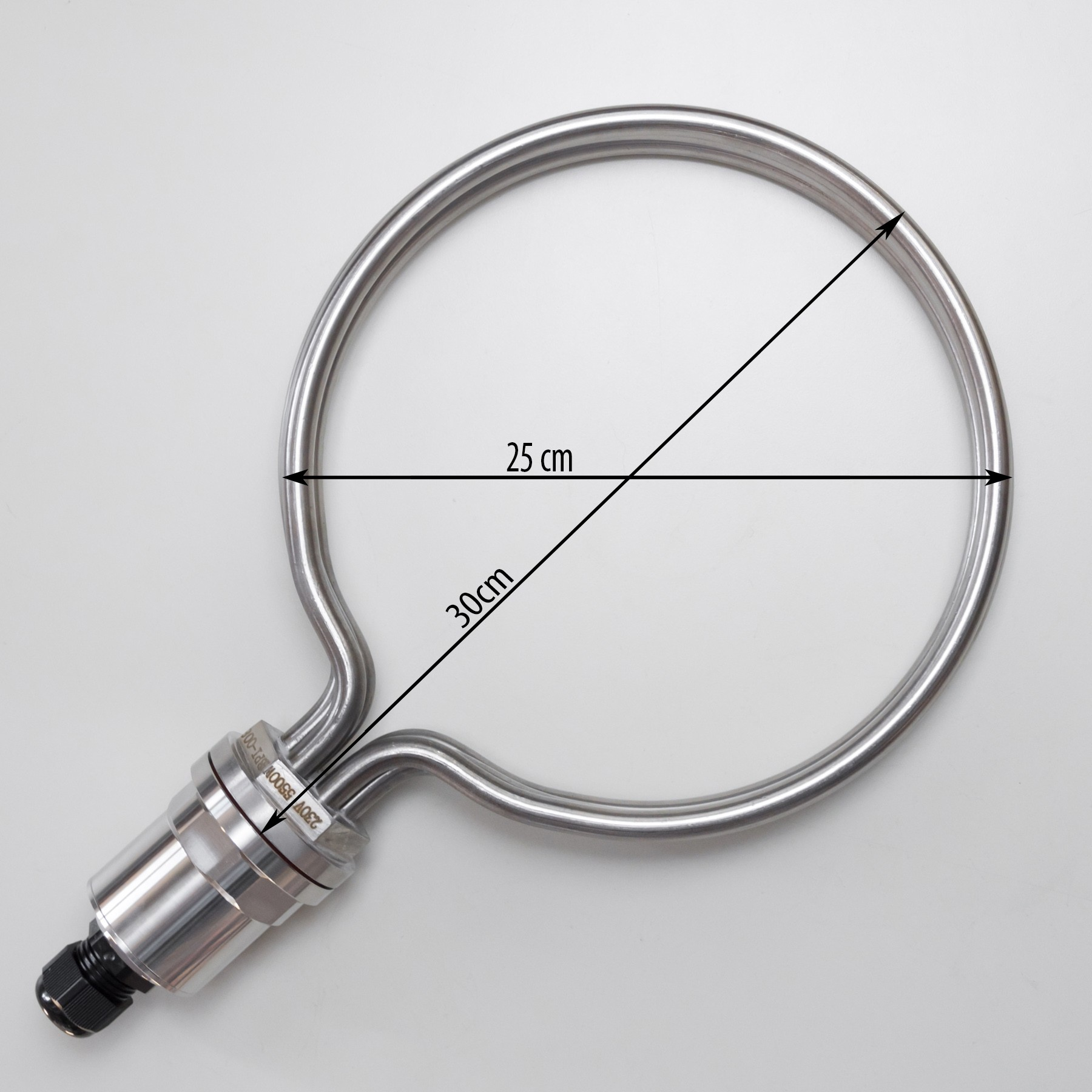 Round Heating Element for brewing, 25cm diameter, 5500W