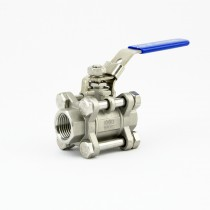"3-piece full bore ball valve with locking handle (1/2"" BSP)"