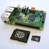 Raspberry Pi Model B+ with microSD card
