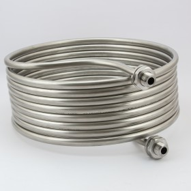 Stainless Steel HERMS Coil with NPT Fittings - 30 cm - 7.5m