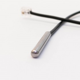 Waterproof OneWire Temperature Sensor (RJ11, DS18B20), extra long cable