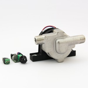 24V brewing pump with speed controller and mounting bracket